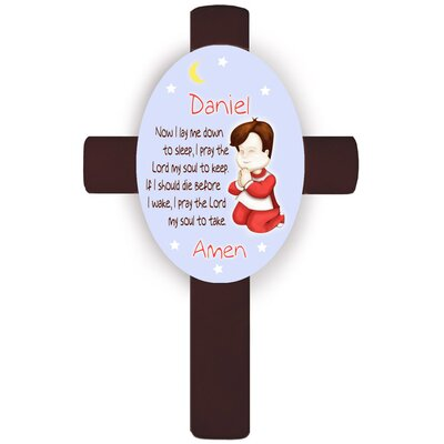 Personalized Gift Girl's Bedtime Prayer Cross Wall Plaque Hair Color: Brunette