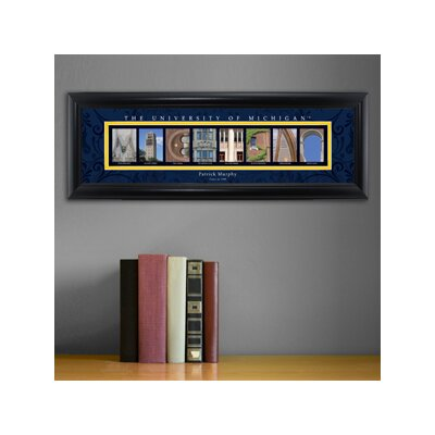 Personalized Gift College Campus Framed Memorabilia NCAA Team: Michigan