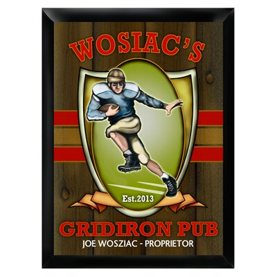 Personalized Gift Pub Framed Graphic Art
