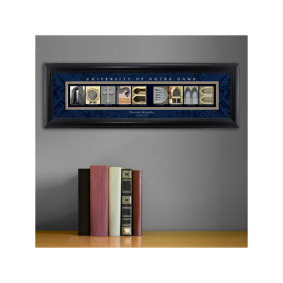 Personalized Gift College Campus Framed Memorabilia NCAA Team: Notre Dame