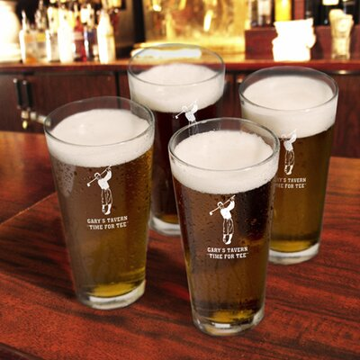Personalized Gift Sport Pub Beer Glass