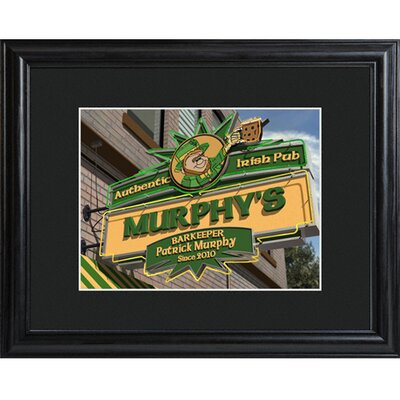 Personalized Gift Irish Pub Framed Photographic Print