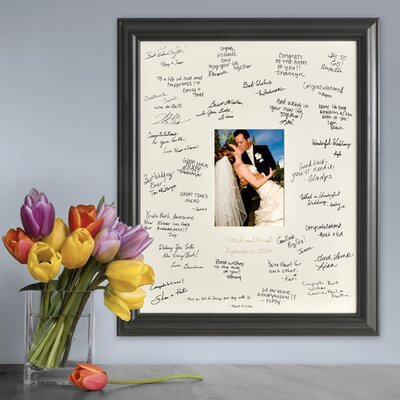Personalized Gift Laser Engraved Wedding Wishes Signature Picture Frame