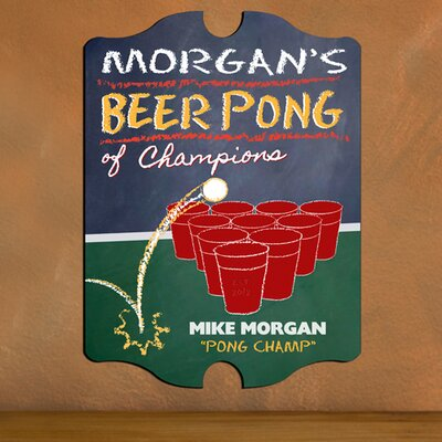 Personalized Gift Beer Pong Graphic Art