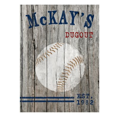 Personalized Gift Man Cave Vintage Advertisement on Canvas