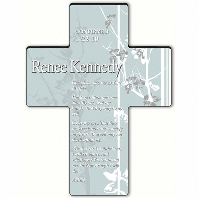 Personalized Gift Faith and Flowers Cross Prayer: Confirmation