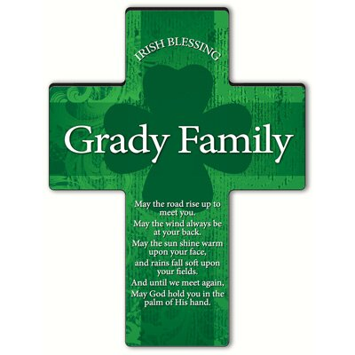 Personalized Gift Irish Blessing Shamrock Cross Blessing: Old Irish Blessing #2