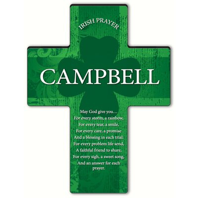 Personalized Gift Irish Blessing Shamrock Cross Blessing: Irish Prayer