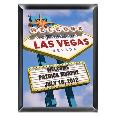 Personalized Gift Vegas Marquee Traditional Framed Photographic Print