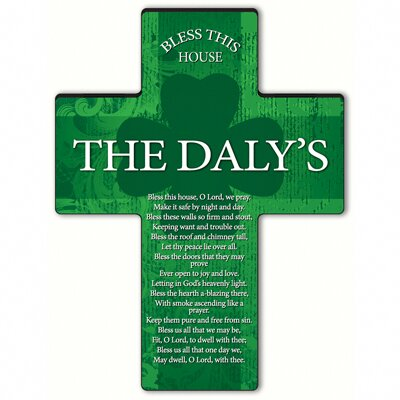 Personalized Gift Irish Blessing Shamrock Cross Blessing: Bless This House