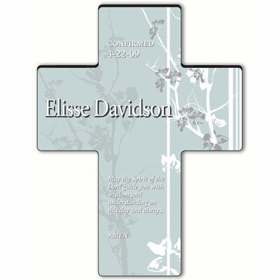 Personalized Gift Faith and Flowers Cross Prayer: Holy Spirit Confirmation