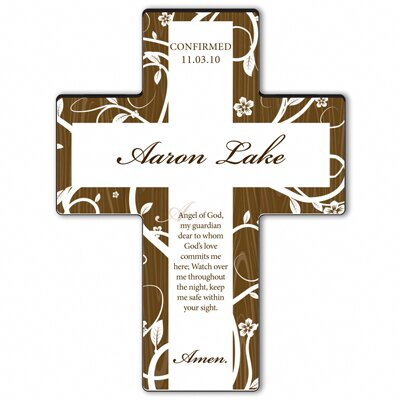 Personalized Gift Tree of Life Cross Prayer: Guardian Angel Prayer