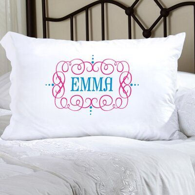 Personalized Gift Felicity Glamour Girl Pillowcase Color: Pink/Blue