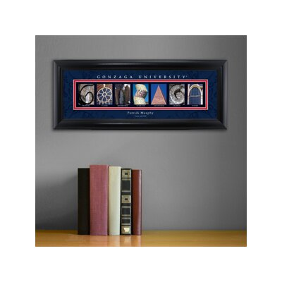 Personalized Gift College Campus Framed Memorabilia NCAA Team: Gonzaga
