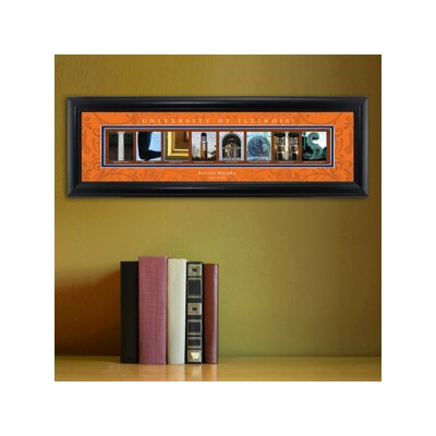 Personalized Gift College Campus Framed Memorabilia NCAA Team: Illinois