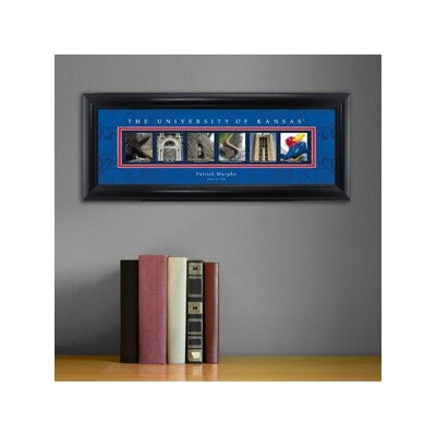 Personalized Gift College Campus Framed Memorabilia NCAA Team: Kansas