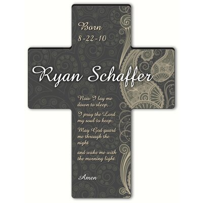 Personalized Gift Paisley Praise Cross - Child's Bedtime Prayer Sculpture