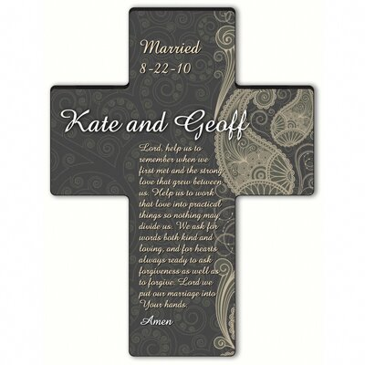 Personalized Gift Paisley Praise Cross Prayer: Marriage Prayer