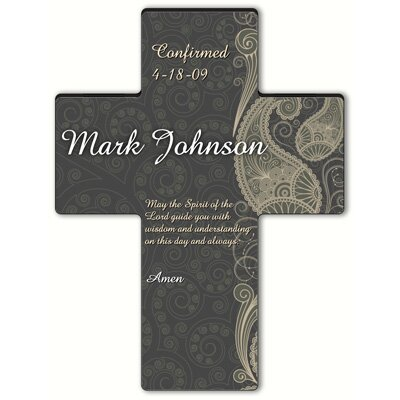 Personalized Gift Paisley Praise Cross Prayer: Holy Spirit Confirmation