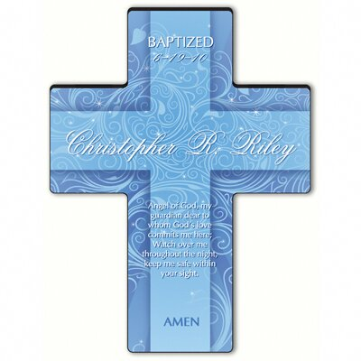 Personalized Gift Twinkling Star Cross Prayer: Guardian Angel Prayer