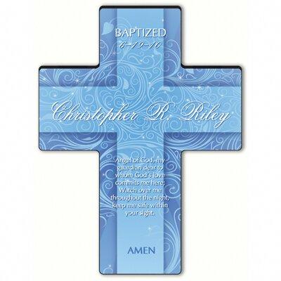 Personalized Gift Twinkling Star Cross Prayer: Guardian Angel Prayer