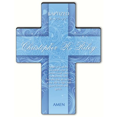 Personalized Gift Twinkling Star Cross Prayer: Prayer of Protection