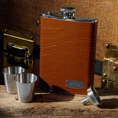 Personalized Gift 4 Piece Tycoon Flask Set