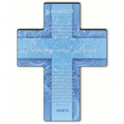Personalized Gift Twinkling Star Cross Prayer: Marriage Prayer