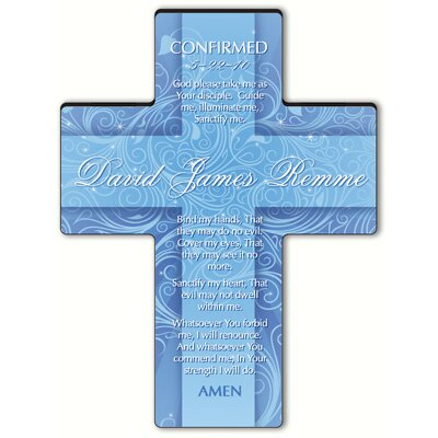Personalized Gift Twinkling Star Cross Prayer: Confirmation