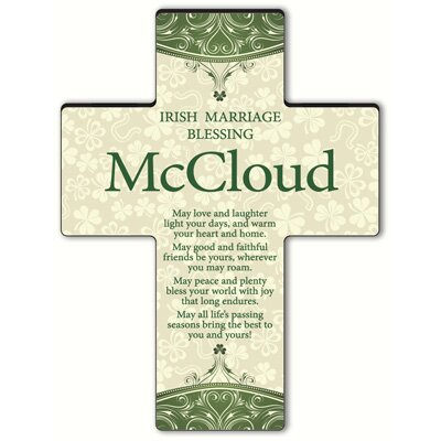 Personalized Gift Classic Irish Cross Blessing: Old Irish Blessing #1