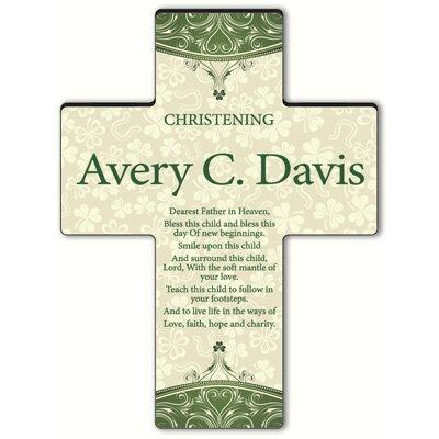 Personalized Gift Classic Irish Cross Blessing: Gaelic Christening Blessing