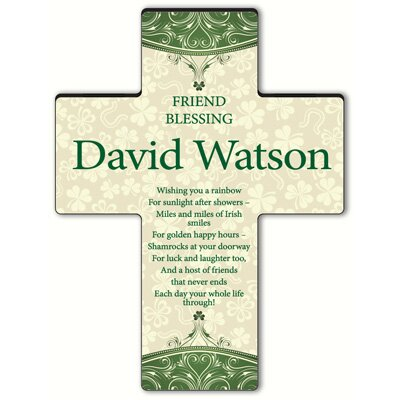 Personalized Gift Classic Irish Cross Blessing: Irish Friend Blessing
