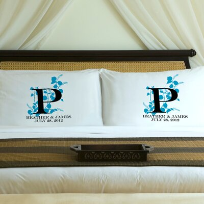 Personalized Gift Couples Natures Bliss Pillowcase Color: Topaz Blue