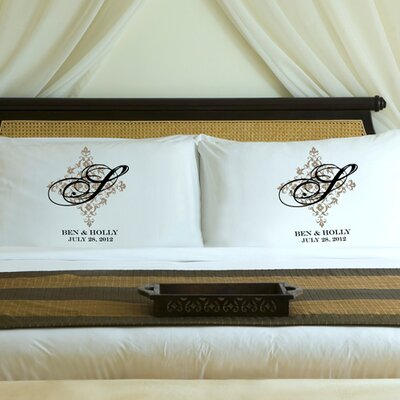 Personalized Gift Couples Perfect Panache Pillowcase Color: Shimmering Sands