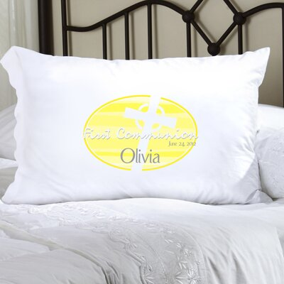 Personalized Gift First Communion and Confirmation Pillowcase Color: Yellow