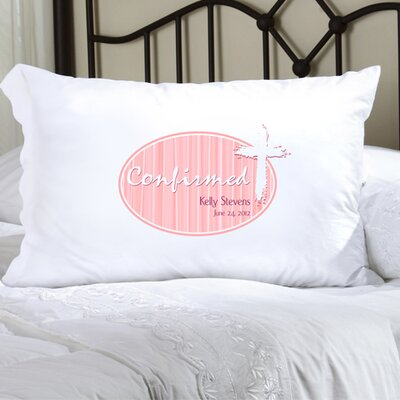 Personalized Gift First Communion and Confirmation Pillowcase Color: Pink