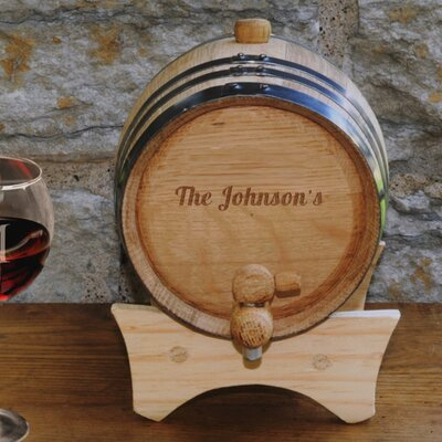 Personalized Gift 2 Liter Wine Barrel