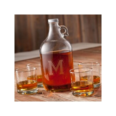 Personalized Gift Whiskey 5-Piece Growler Set