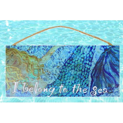 "Mermaid Wood Sign"" Painting Print Plaque MDWS"