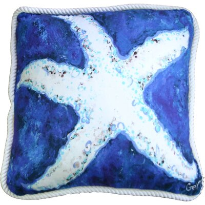 Starfish Trimmed Throw Pillow