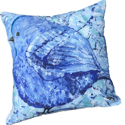 Bonnie Bluebird Throw Pillow