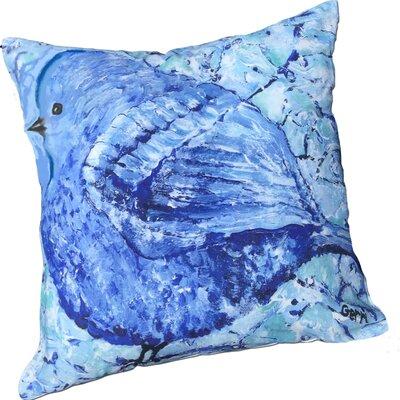 Bonnie Bluebird Throw Pillow
