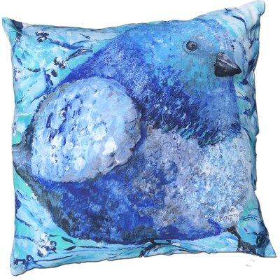 Betsy Bluebird Cotton Throw Pillow