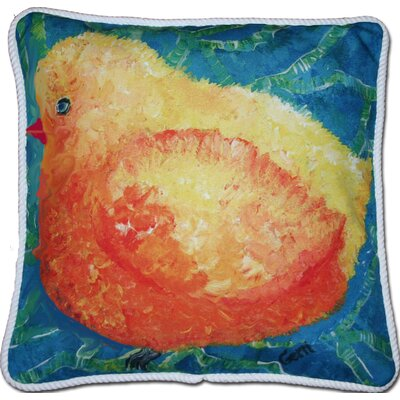 Leederville Little Yellow Birdie Outdoor Throw Pillow