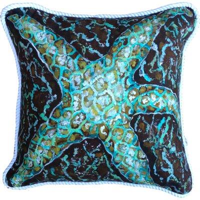 Mosaic Starfish Indoor/Outdoor Throw Pillow