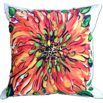 Blossom Cotton Throw Pillow Color: Orange