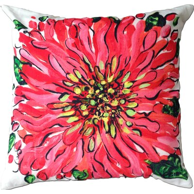 Blossom Cotton Throw Pillow Color: Pink