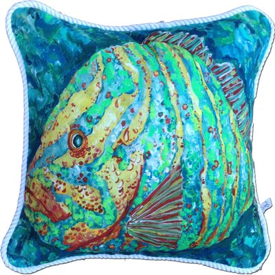 Striped Grouper Indoor/Outdoor Throw Pillow