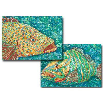 Spotted Grouper Striped Grouper Placemat image