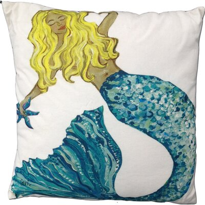 Mermaid Blonde Throw Pillow